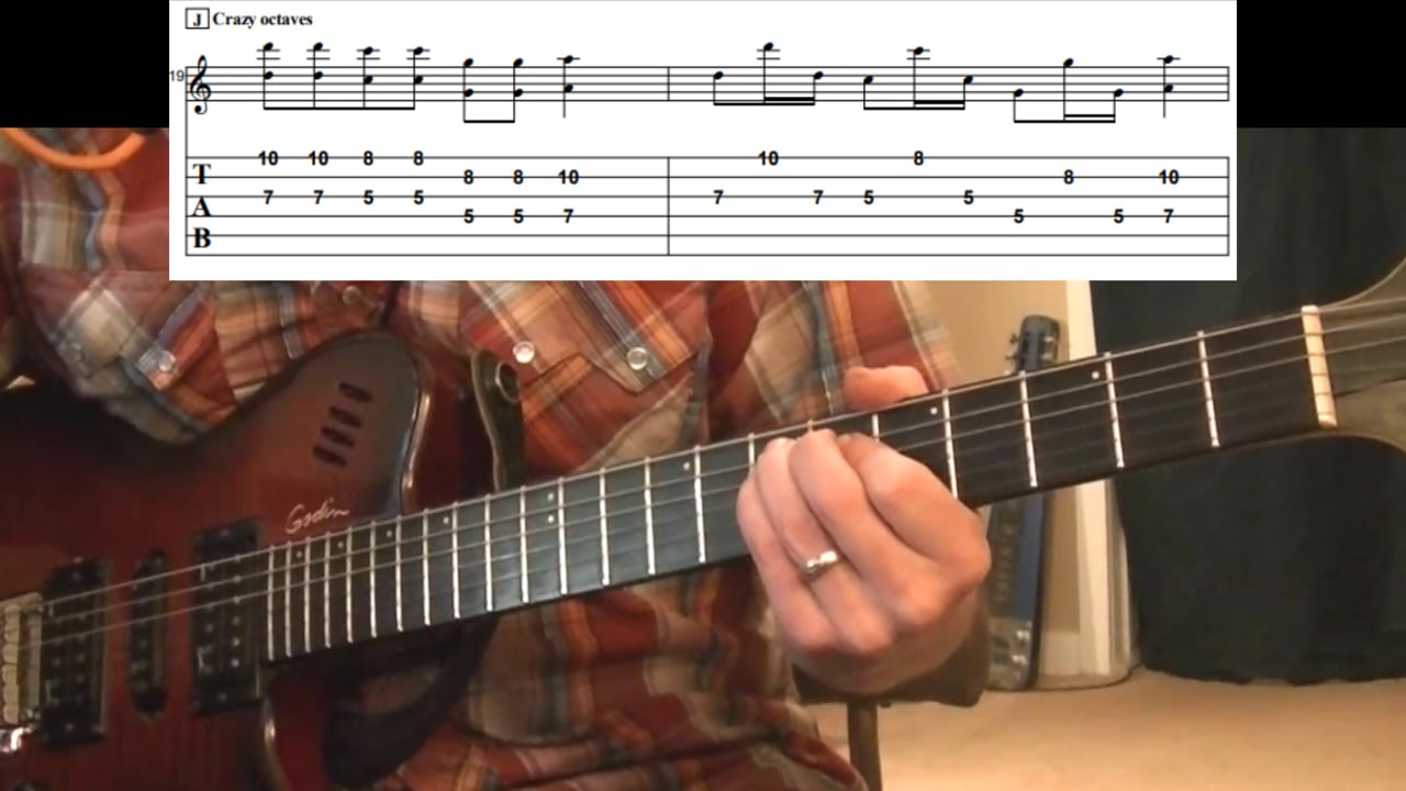 """""""Crazy Octaves"""" Double-Stop (Key Of A)"""