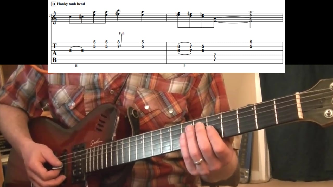"""""""Honky Tonk Bend"""" Double Stop (Key Of A)"""